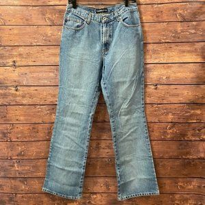 Express High Rise Flare Jeans Light Wash 9 / 10